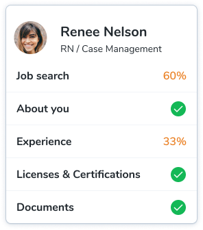 A sample of a candidate's universal profile.