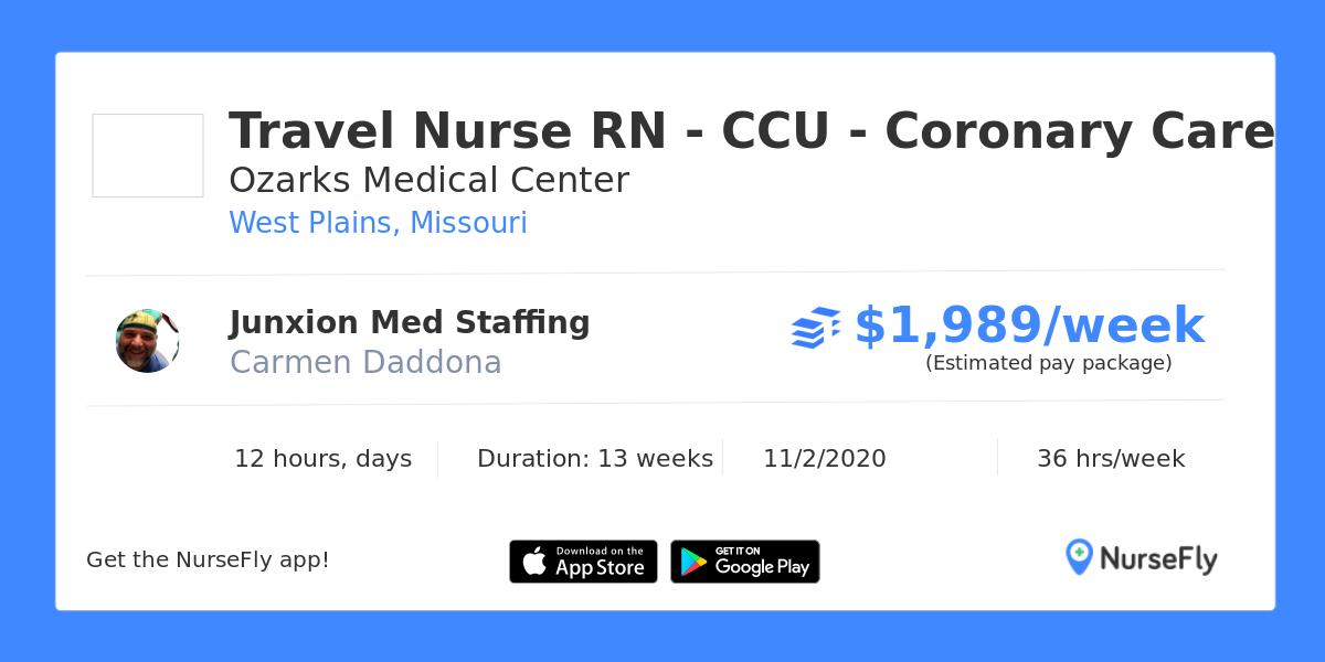 Travel Nurse RN - CCU - Coronary Care in West Plains