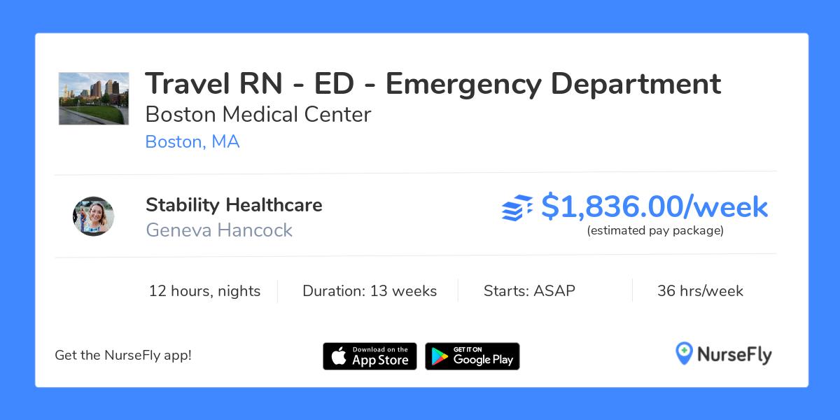 Travel Nurse RN - ED - Emergency Department in Boston, MA