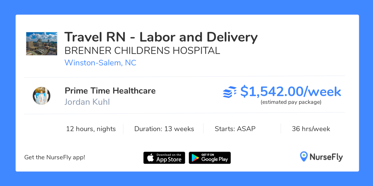 Travel Nurse RN - Labor and Delivery in Winston-Salem, NC