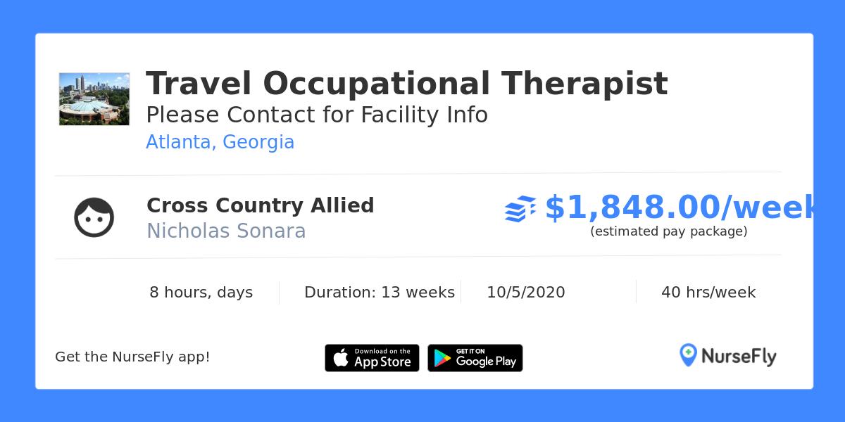 Travel Occupational Therapist in Atlanta, Georgia, Cross ...