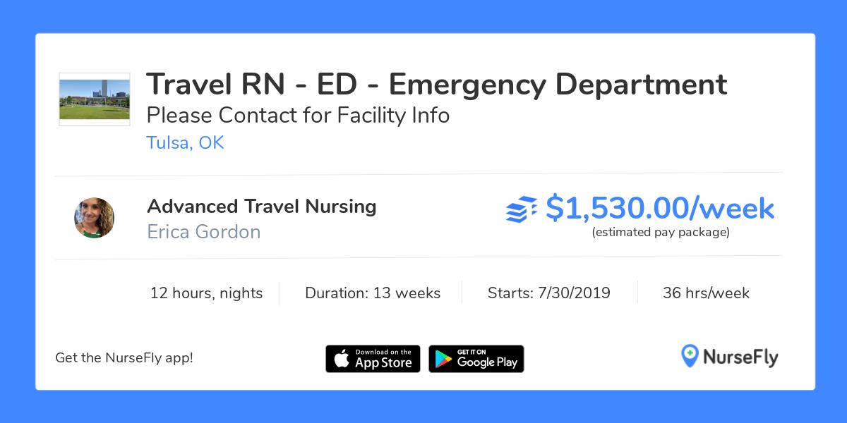 Travel Nurse RN - ED - Emergency Department in Tulsa, OK