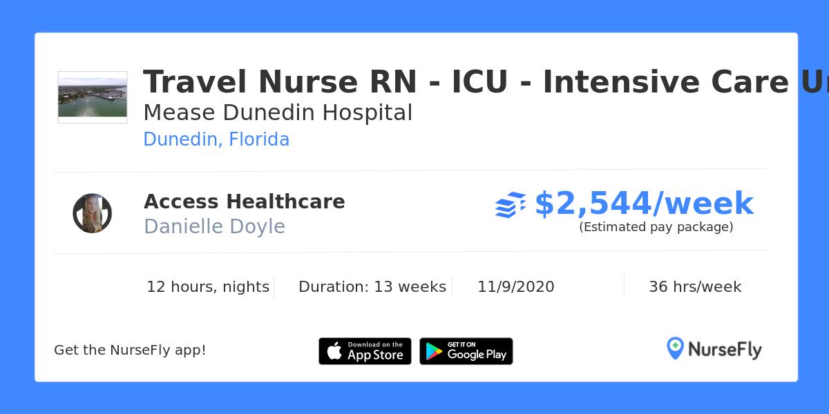 Travel Nurse RN - ICU - Intensive Care Unit in Dunedin ...