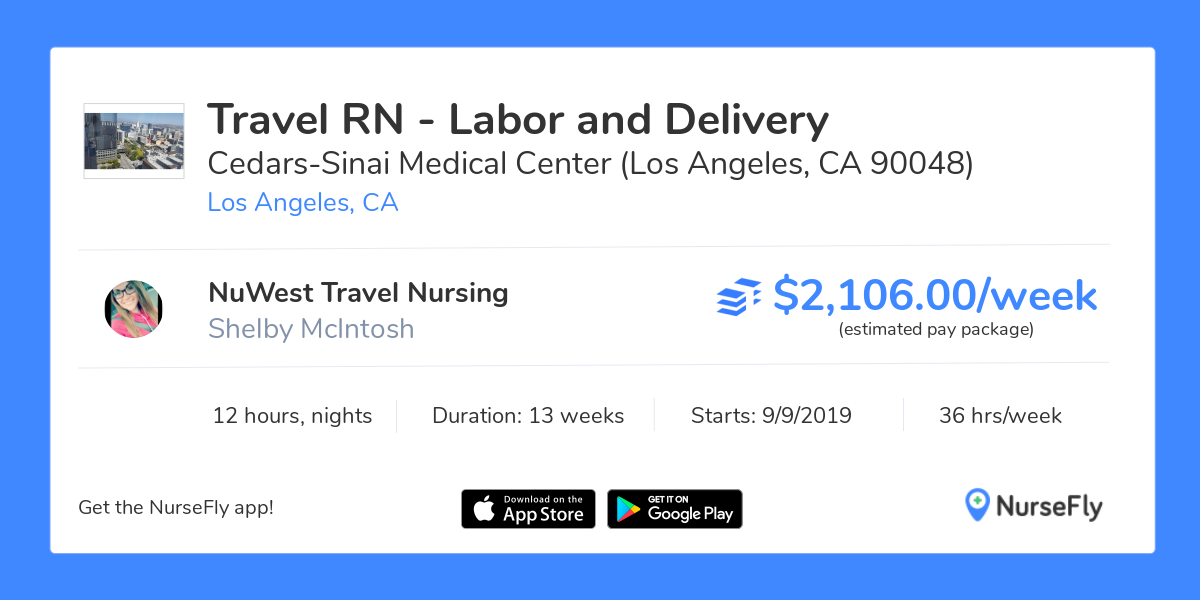 Travel Nurse RN - Labor and Delivery in Los Angeles, CA